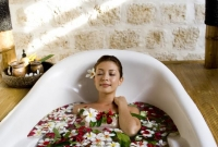 The face of serenity at Mogambo Springs, the Spa at Plantation Bay.